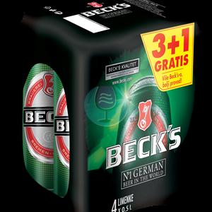 Beck's pivo 0.5l 3+1
