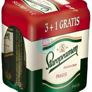 Staropramen pivo 0.5l 3+1