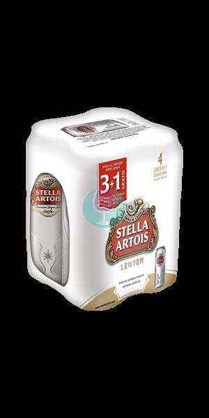 Stella artois pivo 0.5l 3+1